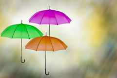 Wet weather sunny period umbrella background Royalty Free Stock Image