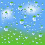 Wet window. Stock Photos