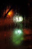 Wet window pane Stock Images