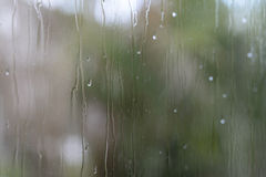 A wet window pane Royalty Free Stock Images