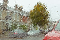 Wet windscreen Stock Photography
