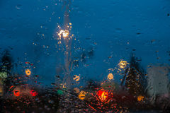 Wet Windshield Abstract Stock Photography