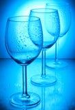 Wet wine glasses Stock Image