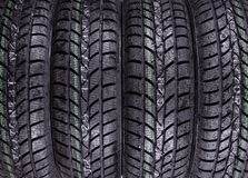 Wet, winter tires texture Royalty Free Stock Photo