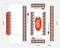 Wet wipes box template with embroidery ornament Royalty Free Stock Photography