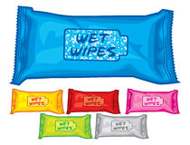 Wet wipes boxes Royalty Free Stock Image