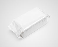 Wet wipes package isolated on gray Stock Image