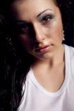 Wet woman portrait Stock Images