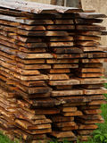 Wet wood boards Royalty Free Stock Photography