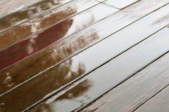 Wet wood floors Royalty Free Stock Image