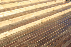 Wet wood planks Royalty Free Stock Image