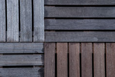 The wet wood ribbed planks of the batten platform. Four kinds. The wet wood ribbed planks of the batten royalty free stock images
