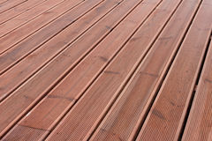 Wet wood terrace floor background Royalty Free Stock Photo