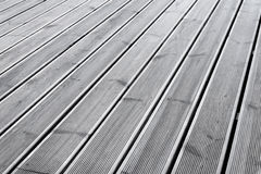 Wet wood terrace floor background Royalty Free Stock Images