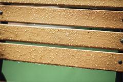 Wet Wooden Bench Royalty Free Stock Images