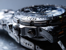 Wet wrist watch Stock Photography