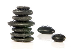 Wet zen stones Stock Image