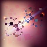 Wetenschap of de abstracte achtergrond van DNA Royalty-vrije Stock Afbeeldingen