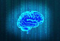 Wetenschap en de hersenen stock illustratie