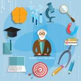 Wetenschap en onderwijs de leraarsklaslokaal van de professorstheorie Stock Fotografie