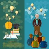 Wetenschap en onderwijs online de studentenuniversiteit van de onderwijsstudie Stock Fotografie