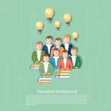 Wetenschap en onderwijs online onderwijs internationaal onderwijs Royalty-vrije Stock Foto
