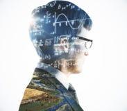 Wetenschap en onderwijsconcept stock foto