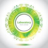 Wetenschap en Onderzoek - laboratoriumonderzoek - cirkelelement stock illustratie