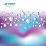 Wetenschap en onderzoek - moleculaire structuur vector illustratie
