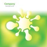 Wetenschap en onderzoek - moleculevirus - laboratoriumachtergrond Royalty-vrije Stock Afbeelding