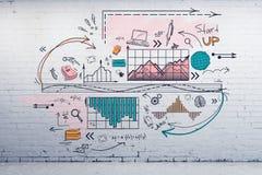 Wetenschap en planconcept royalty-vrije illustratie