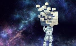 Wetenschap en technologieën Gemengde media Stock Afbeelding