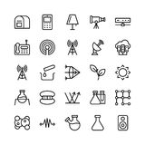 Wetenschap en Technologielijn Vectorpictogrammen 14 stock illustratie