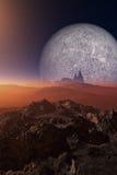 Wetenschap-fictie landschap royalty-vrije illustratie