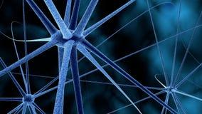 Wetenschap of medische achtergrond met molecules, 3d het teruggeven virus, bacteriën, cel Systeem van neuronen Genetisch, wetensc Stock Afbeeldingen