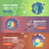 Wetenschap van Aarde Exploratie van ruimte geofysica stock illustratie