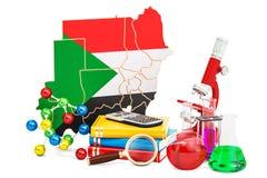 Wetenschappelijk onderzoek naar het concept van de Soedan, het 3D teruggeven Royalty-vrije Stock Afbeelding