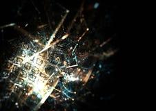 Wetenschappelijk patroon met metaaloppervlakte Stock Afbeeldingen