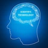 Wetenschappelijke achtergrond Stock Foto