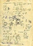 Wetenschappelijke berekeningen vector illustratie