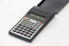 Wetenschappelijke calculator op de witte achtergrond Stock Afbeeldingen