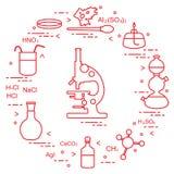 Wetenschappelijke chemie, onderwijselementen Royalty-vrije Stock Fotografie
