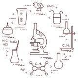 Wetenschappelijke chemie, onderwijselementen Royalty-vrije Stock Afbeeldingen