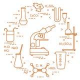 Wetenschappelijke chemie, onderwijselementen Royalty-vrije Stock Foto's