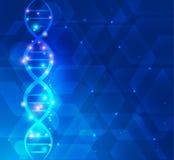 Wetenschappelijke DNA-achtergrond Stock Afbeeldingen