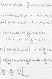 Wetenschappelijke formules Stock Foto's