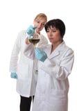 Wetenschappelijke laboratoriumarbeiders Stock Foto's