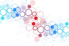 Wetenschappelijke moleculeachtergrond voor geneeskunde, wetenschap, technologie, chemie Behang of banner met een DNA-molecules royalty-vrije stock afbeelding