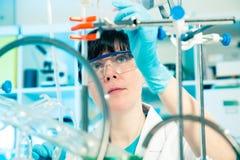 Wetenschappelijke onderzoekersholding Stock Foto's