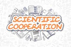 Wetenschappelijke Samenwerking - Bedrijfsconcept royalty-vrije illustratie